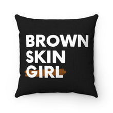 Load image into Gallery viewer, Brown Skin Girl Spun Polyester Square Pillow