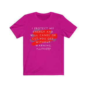 I Protect My Energy Unisex Jersey Short Sleeve Tee