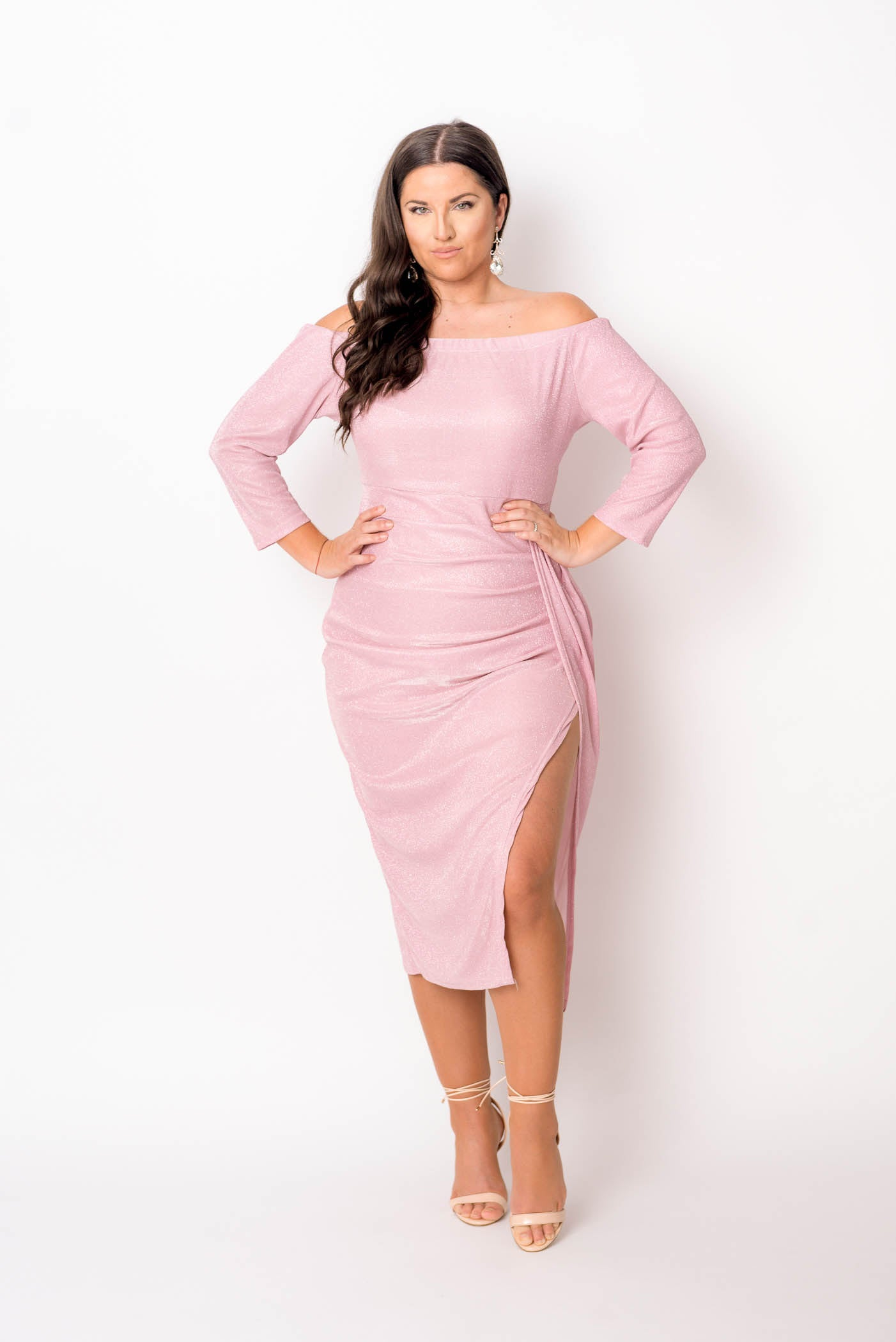 Blush Sexy Off Shoulder Party Dress