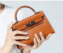 Load image into Gallery viewer, Mini Flap- Vegan Leather Handbag