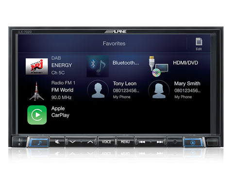 "iLX-702D Sistema Multimediale da 7"" compatibile con Apple CarPlay e Android Auto"
