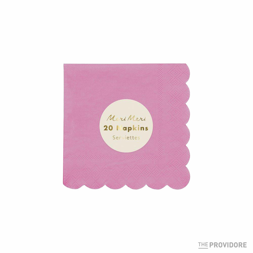 Meri Meri Coral Simply Eco Small Napkins