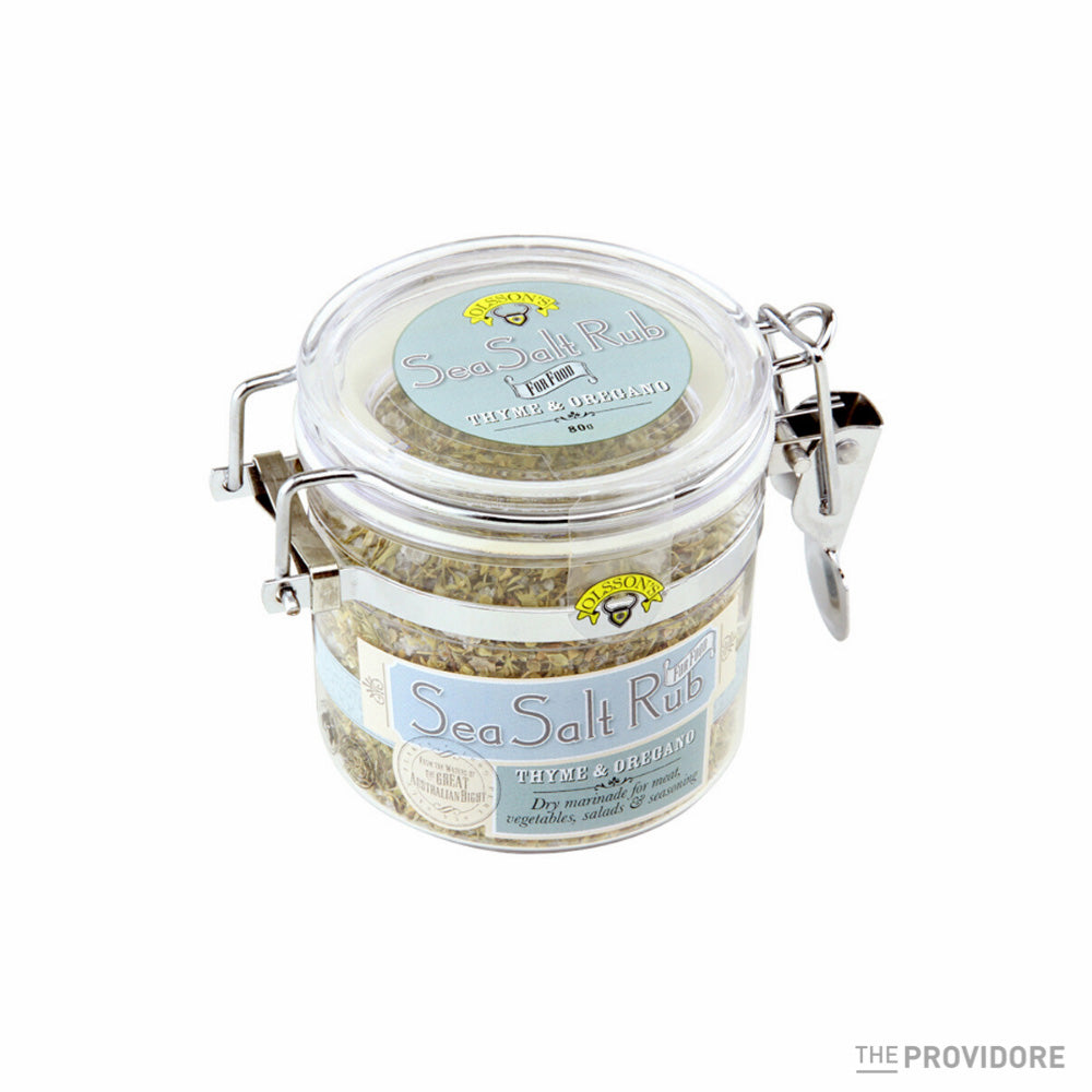 Olsson's Thyme and Oregano Sea Salt Rub - 80g