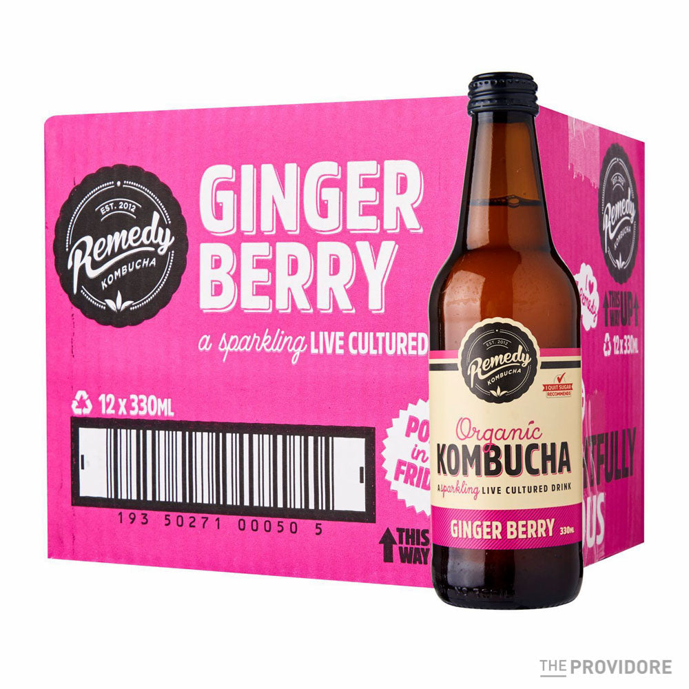 Remedy Organic Kombucha Ginger Berry