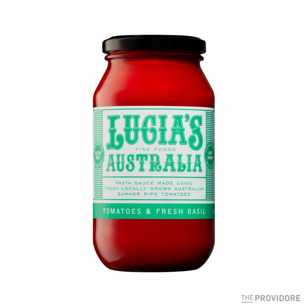 Lucia's Tomatoes and Fresh Basil Pasta Sauce - 490g