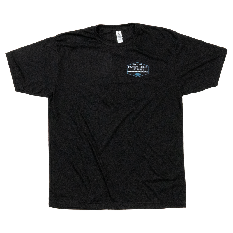 Crappie Hex Shirt - Black