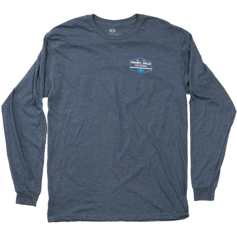 Crappie Hex LS Shirt - Heather Blue