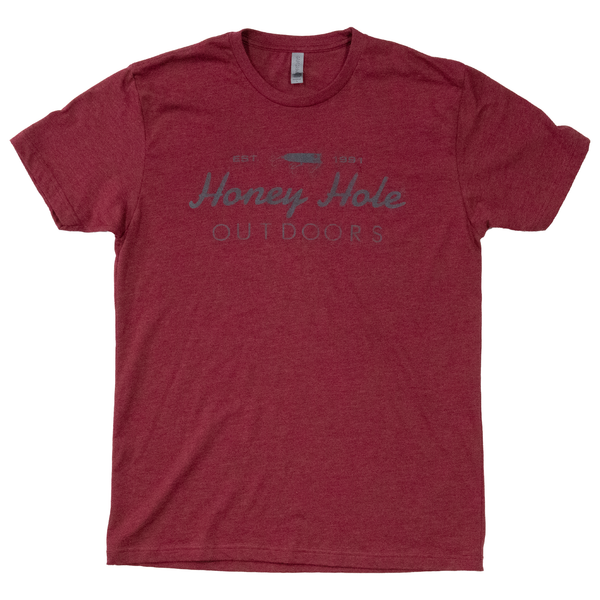 OG Cursive Shirt - Heather Maroon