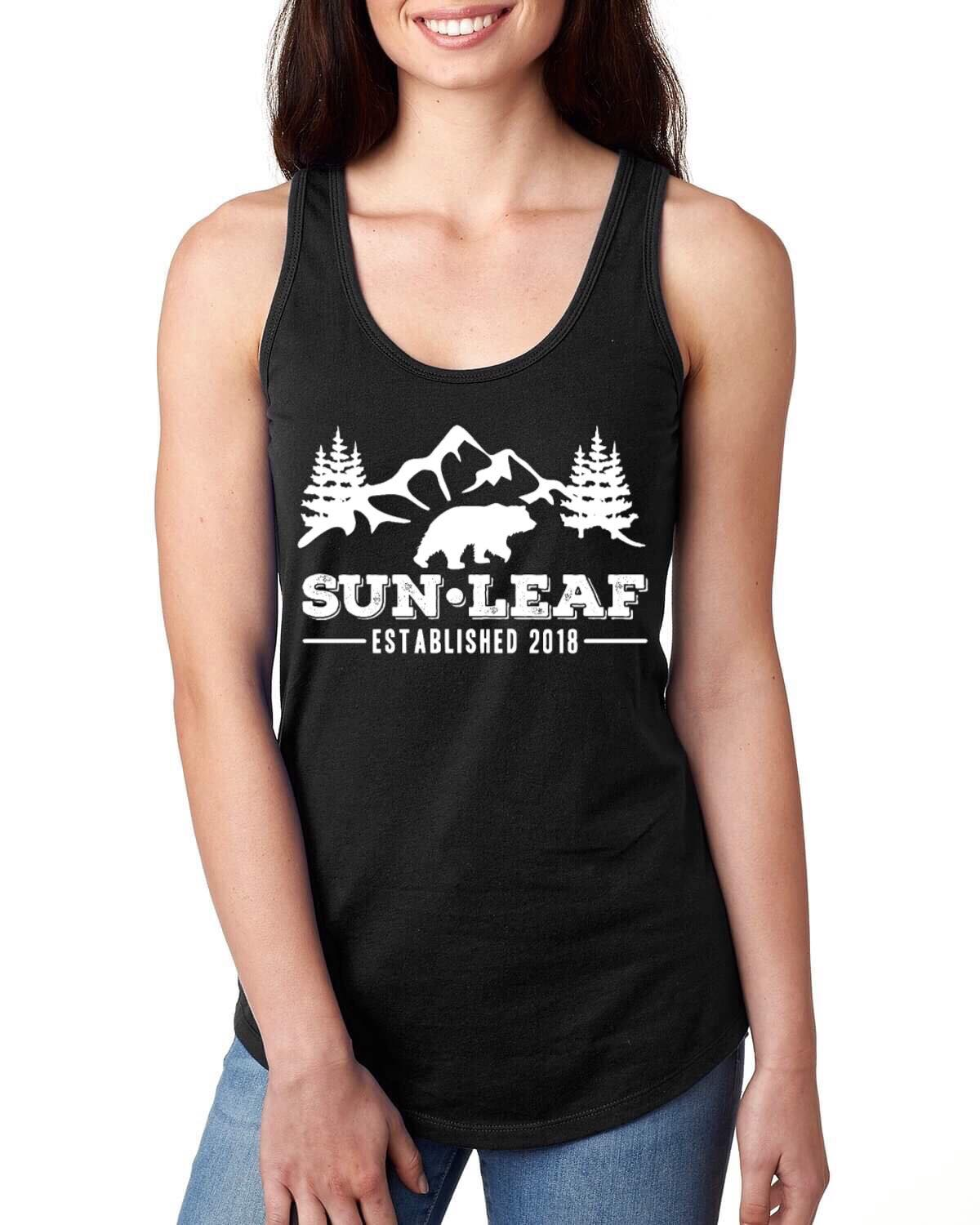 Forest Bear Black Racerback Tank