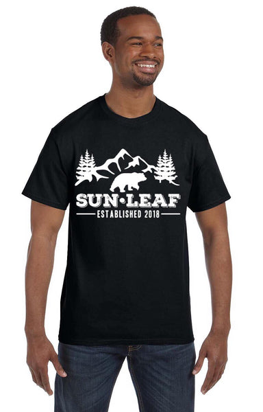Forest Bear Black Tee