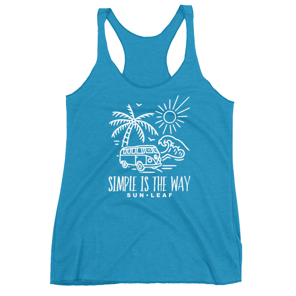 Teal Simple is the Way Racerback Tank