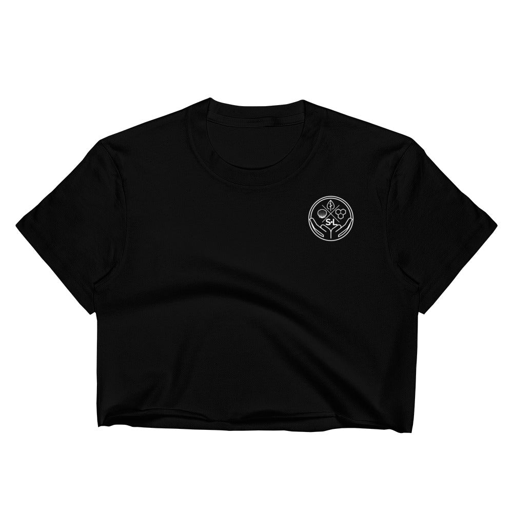Logo Black Crop Top