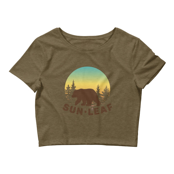 Sunset Bear Crop Tee