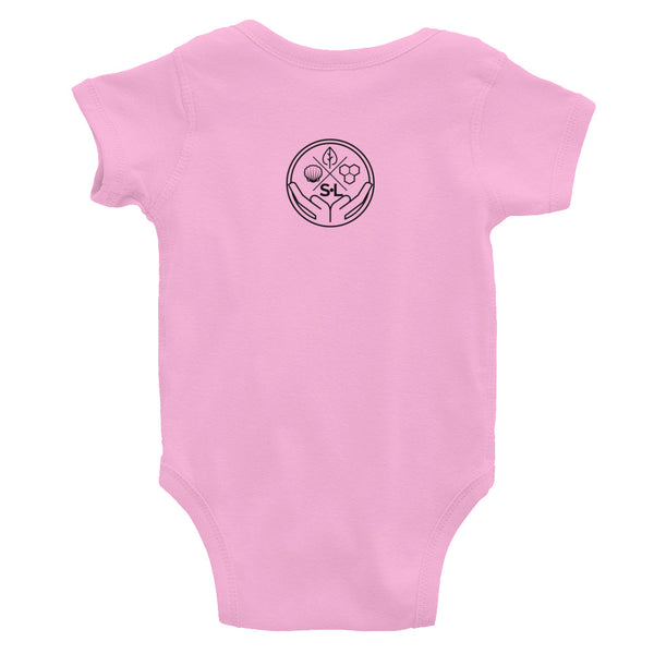 Black Simple is the Way Infant Onesie