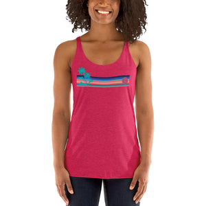 Pink Dolphin Palm Racerback Tank