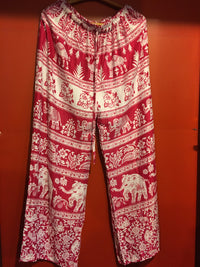 Elephant Pants -  Regular Red, 92025 MARIAM, CLOTHING - 92025 - Boulder Artisan Store - Boulder, Colorado