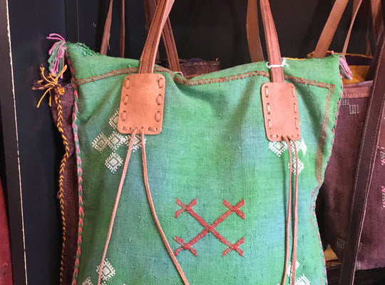 Cactus Slk Bag, 95 leather bags+belt, 95 Zahra - 95 - Boulder Artisan Store - Boulder, Colorado