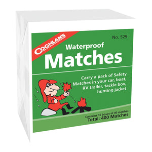 Coghlans Waterproof Matches, 10 Box Pack