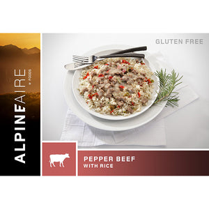 AlpineAire Freeze Dried Pepper Beef with Rice