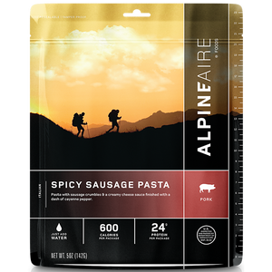 AlpineAire Freeze Dried Spicy Sausage Pasta (Pork)