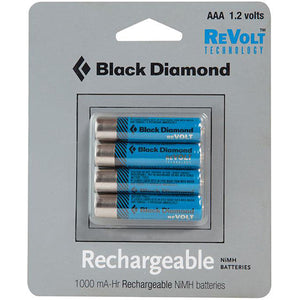 Black Diamond AAA Rechargeable Battery, 4 Pack