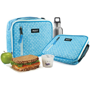 PackIt Classic Lunch Box Chambray Dot