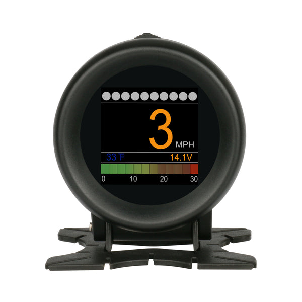 AUTOOL X60 Multi-function Digital Turbo Boost Pressure Meter Alarm Speed Oil Water Temp Gauge 12V
