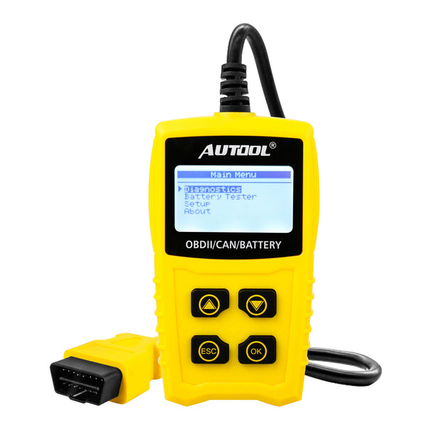 AUTOOL CS330 12V Code Reader Battery Tester Scan for OBDII/EOBD/CAN Car OBD2 Diagnostic Tool