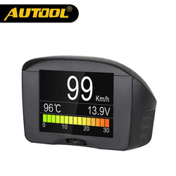 Car OBD2 Digital Voltage Meter Car Speedometer Overspeed Alarm Water Temperature Gauge 12v AUTOOL
