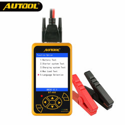 AUTOOL BT460 Car Battery Tester 12V 24V Colorful Display Multi-Languages Cell Test Car Tools