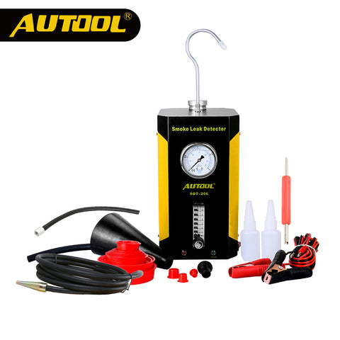 AUTOOL SDT-206 Smoke Machine Leak Locator Vehicle Diagnostic Leakage Detector with Intake Bladder