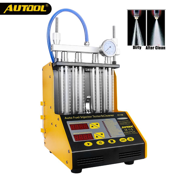 AUTOOL Vehicle Fuel Injector Cleaner CT100/CT150/CT200 for 4/6 Cylinder Car Injector Cleaning