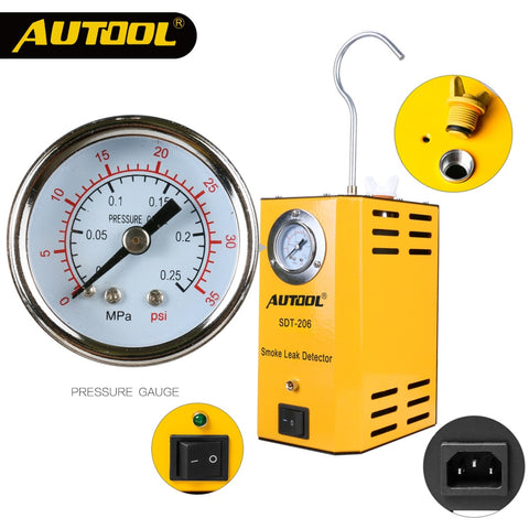 AUTOOL SDT-202 Car Smoke Machines Leak Locator Automotive Diagnostic Leak Detector Discoverer