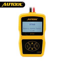 AUTOOL Multi-Language Battery Measurement Meter Car Battery Tester Unit BT360 ACranking Charging