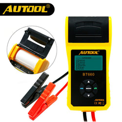 AUTOOL BT660 Car Battery System Tester Built-in Thermal Printer Multi-Language Auto Battery Test