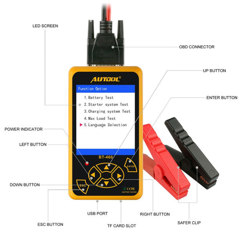 AUTOOL Car Battery System Tester Professional 12V 24V Vehicle Batteries Diagnostic Tool for Autos