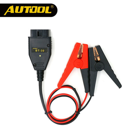 AUTOOL BT30 Car ECU Emergency Power Battery Clips Auto Computer ECU MEMORY Alligator Clamps Constant