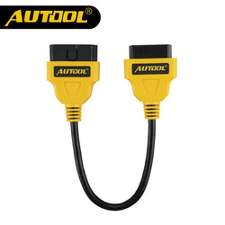 AUTOOL 30cm OBD2 Extend Cable Car Connector 16Pin Male to Female Extension Wire OBDII Diagnostic