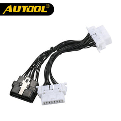 AUTOOL OBD2 Extension Cable One 16Pin Male to Male/Female Spliter Adapter Wire OBDII Car Diagnostic