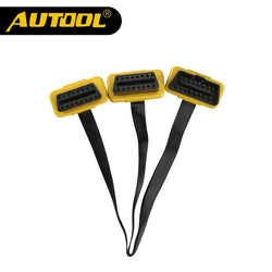 AUTOOL Universal 1 to 2 Split Cord 16pin OBD2 Cable Connector OBDII 16pin Male to Female Splitter
