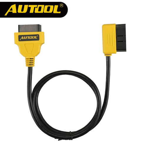 AUTOOL 100cm Car OBD2 Extension Cable 16Pin Connector Elbow Bend Shape Extend Wire Vehicle