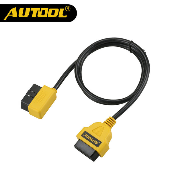 AUTOOL OBDII OBD2 Diagnostic Adapter Tool 100cm 16Pin Male to Female Extension Cable Adapter