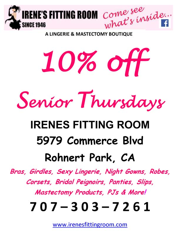 NEW - SENIOR THURSDAYS - 10% OFF - EVERY THURSDAY!