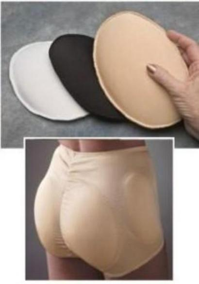 Covered Foam Panty Inserts Padded Panty Breifs Transform Transition