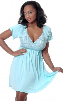 Vx Intimates 4082 Microfiber Chemise Gown
