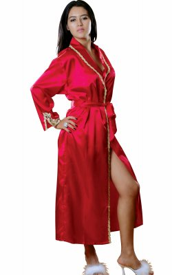 Vx Intimates 488 Charmeuse Robe