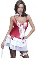 Vx Intimates C011 Women's French Maid Costume 4 Piece Set