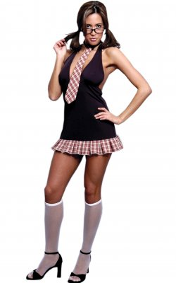 Vx Intimate C017 Women's School Girl Costume 2 Piece Set