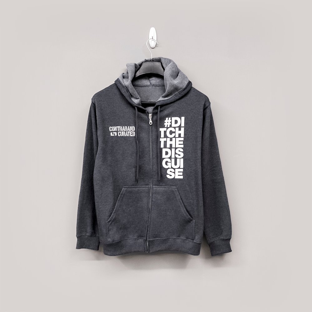 Ditch The Disguise Hoodie - Grey