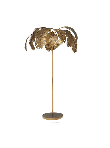 Coconut Gold Palm Floor Lamp